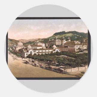 Casino and baths, La Bourboule, France vintage Pho Stickers