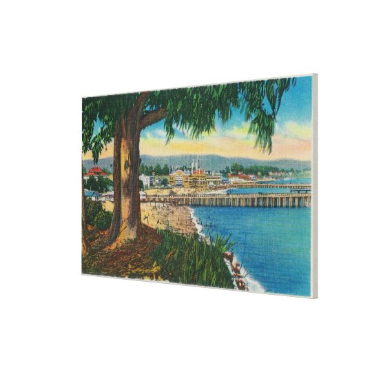 Casino and Pier, Santa CruzSanta Cruz, CA Canvas Print