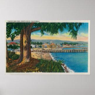 Casino and Pier, Santa CruzSanta Cruz, CA Poster
