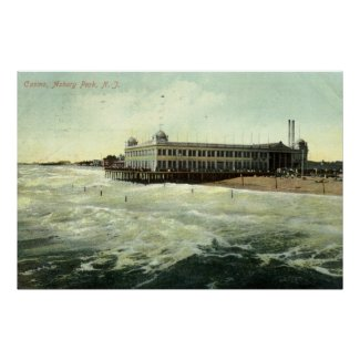 Casino, Asbury Park NJ 1910 print