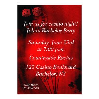 Casino Bachelor Party Personalized Invite