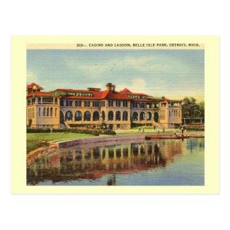 Casino, Belle Isle Park, Detroit Vintage Postcard