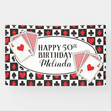 Casino Birthday Party Banner