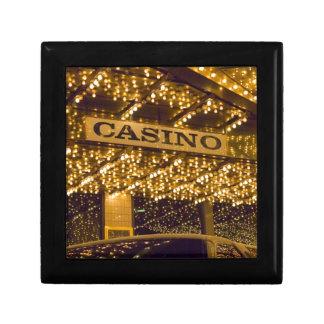 Casino Bright Lights Las Vegas Gambling Money Keepsake Box