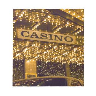 Casino Bright Lights Las Vegas Gambling Money Notepad