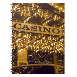 Casino Bright Lights Las Vegas Gambling Money Spiral Notebook