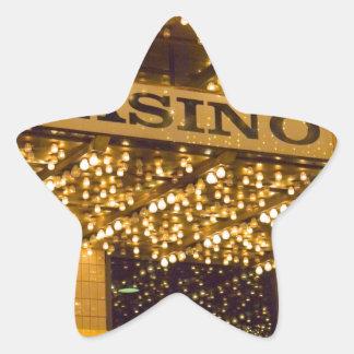 Casino Bright Lights Las Vegas Gambling Money Star Stickers
