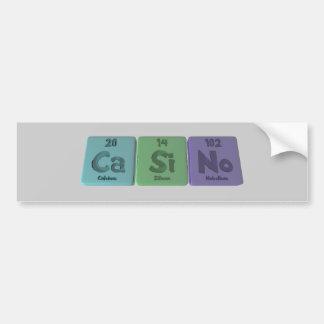 Casino-Ca-Si-No-Calcium-Silicon-Nobelium.png Bumper Sticker