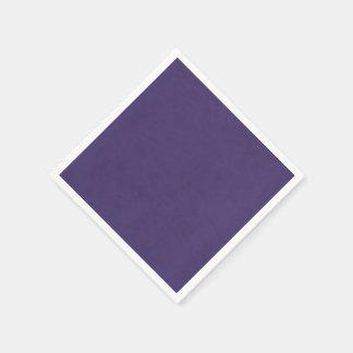 Casino casero de encargo del terciopelo púrpura servilleta desechable