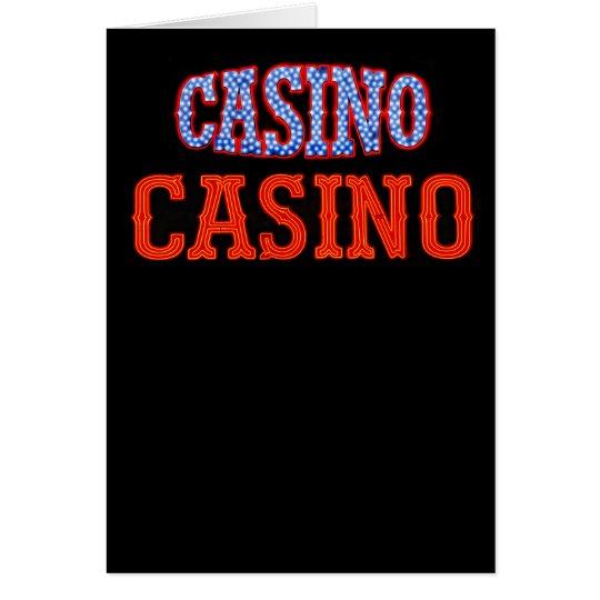 Casino Casino! Card