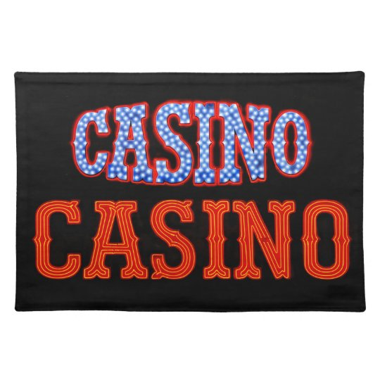 Casino Casino! Cloth Placemat
