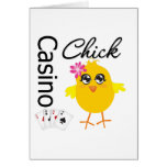 Casino Chick Greeting Cards