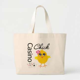 Casino Chick Large Tote Bag
