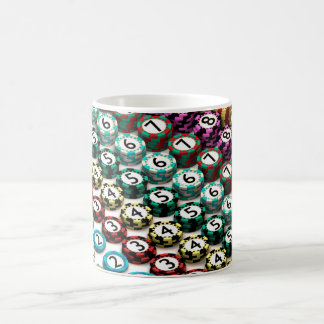 Casino Chip Stacked In Pattern of Quantity Order Coffee Mug
