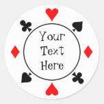 Casino Chip Sticker Round Sticker