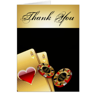 Casino Chip Thank You ASK ME TO PUT NAMES IN CHIPS Card