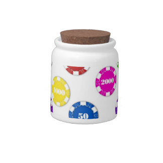 CASINO CHIPS CANDY JAR