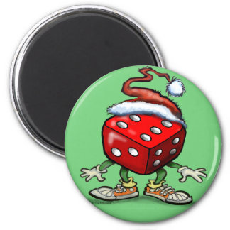 Casino Christmas 2 Inch Round Magnet