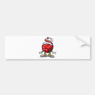 Casino Christmas Bumper Sticker