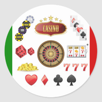 Casino Classic Round Sticker