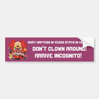 Casino Clown View Notes Please Bumper Sticker