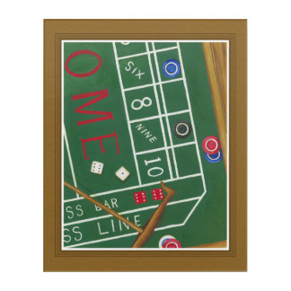 Casino Craps Table with Chips and Dice Acrylic Print