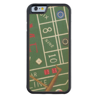Casino Craps Table with Chips and Dice Carved Maple iPhone 6 Bumper Case