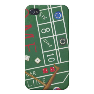 Casino Craps Table with Chips and Dice Cover For iPhone 4