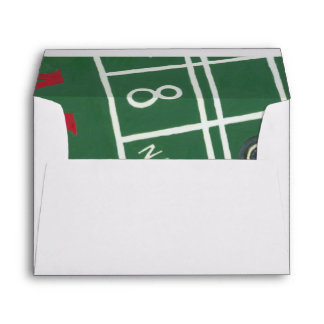 Casino Craps Table with Chips and Dice Envelopes