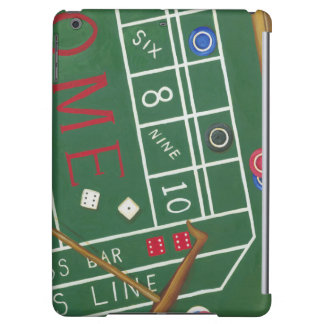Casino Craps Table with Chips and Dice iPad Air Covers