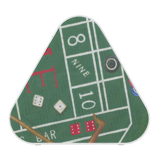 Casino Craps Table with Chips and Dice Bluetooth Speaker