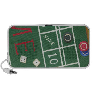 Casino Craps Table with Chips and Dice Speaker System