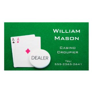 Casino Croupier / Dealer, Aces - Business Cards