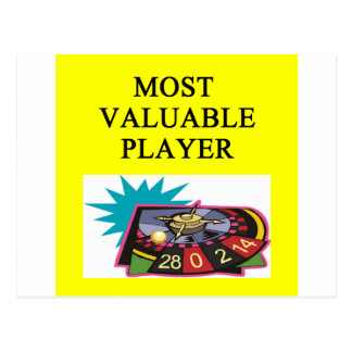 CASINO dambler most valuable player Postcard
