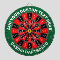 Casino Dartboard with Custom Text