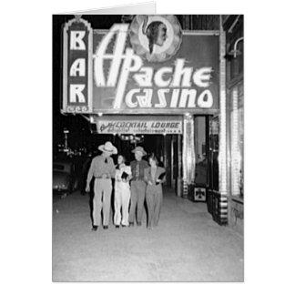 Casino de Apache y foto de Las Vegas del vintage d Felicitacion