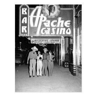 Casino de Apache y foto de Las Vegas del vintage d Postales