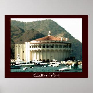 Casino de la isla de Catalina Póster