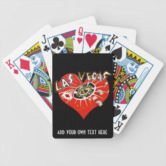 Casino de Las Vegas que juega naipes rojos del Barajas De Cartas