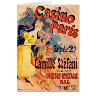 Casino de Paris 1891 Card