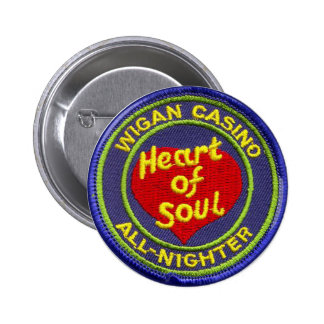 Casino de Wigan Todo-Nighter Pin Redondo De 2 Pulgadas