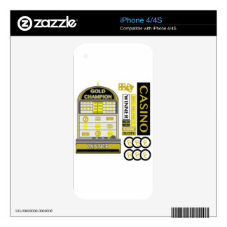casino decals for iPhone 4