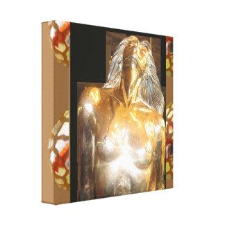 CASINO Deco Las Vegas - Colorful MERMAID GOLD Canvas Print