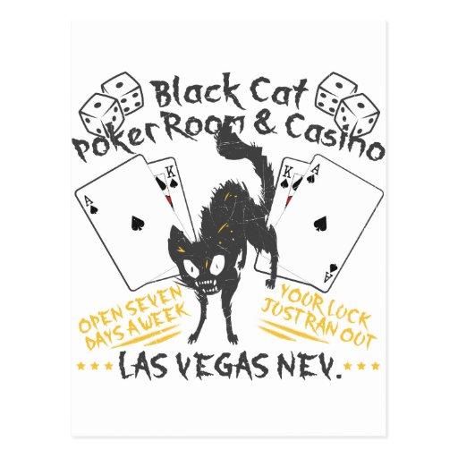 Casino del gato negro tarjeta postal