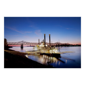 Casino del puente y de la barca de Natchez-Vidalia Impresiones