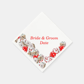 Casino Dice Wedding Paper Napkins