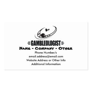 Casino divertido tarjeta de negocio