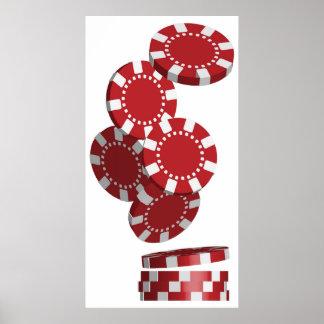 Casino/fichas de póker póster