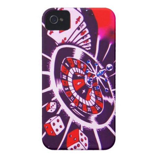 Casino Gambler Dice, Cards, & Roulette iPhone 4 Cover