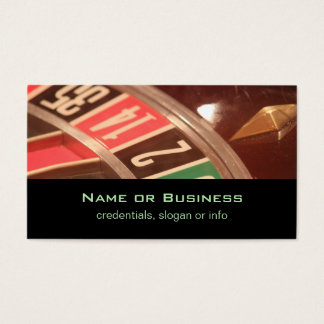 Casino Gambling Roulette Wheel Vintage Retro Style Business Card